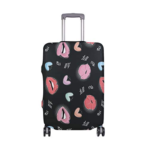 ALINLO Sexy Red Lips Luggage Cover Baggage Suitcase Travel Protector Fit for 18-32 Inch
