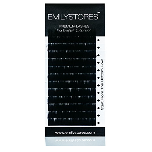 EMILYSTORES 100% Real Mink Fur J Curl 8mm Length Fake Eye Lashes In One Tray For Eyelash Extensions