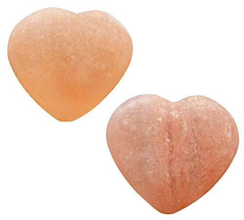 2er Set Salzseife Herz Seife Salzkristall natur 200 gr/Stück