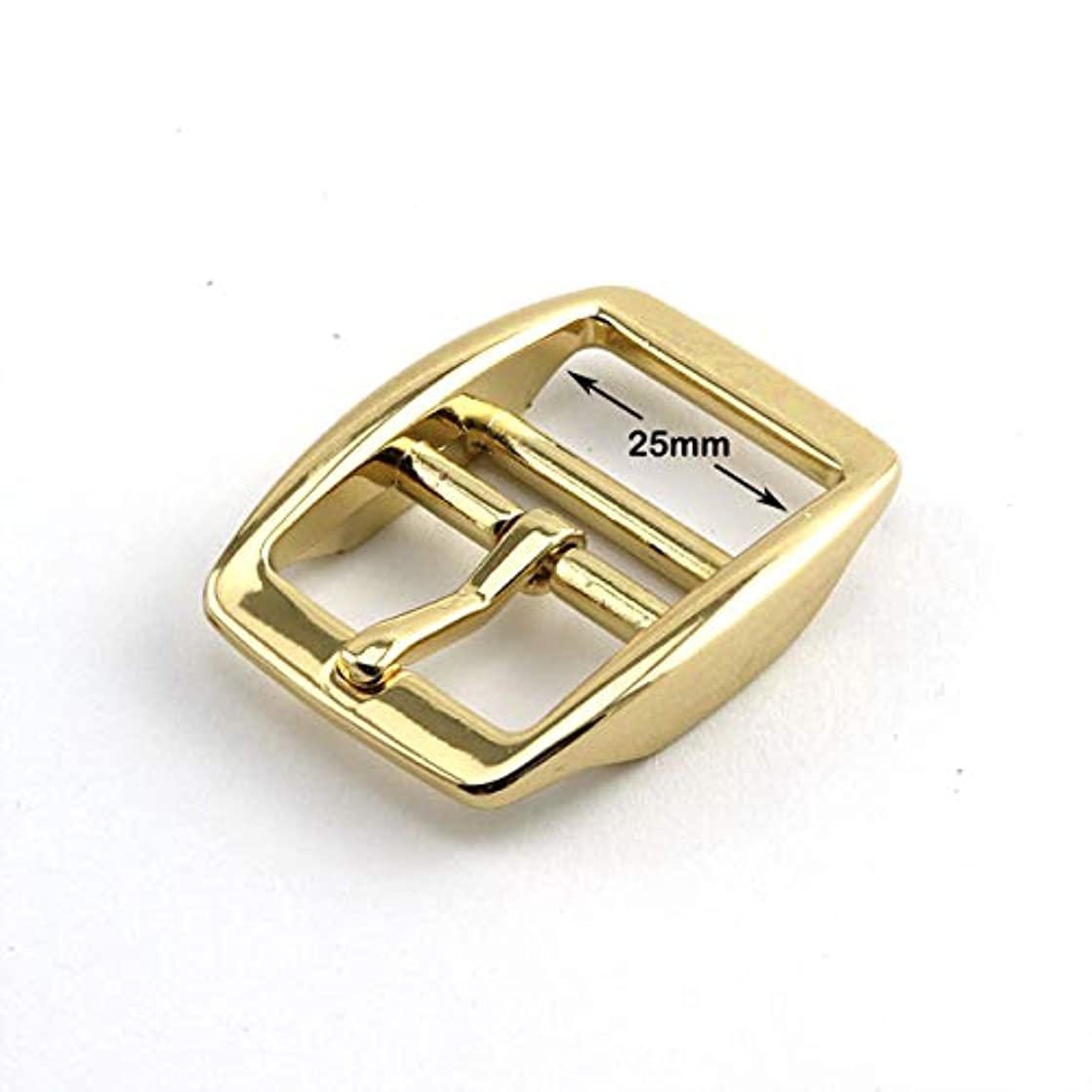 PZRT 2-Pack Mirror-Like Finished 1 Inch Tongue Buckle Light Gold Color Dog Collar Buckles