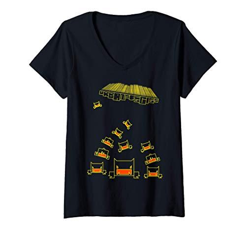 Womens US Signature Lines Sci Funk Super Nova Ripped 01 V-Neck T-Shirt