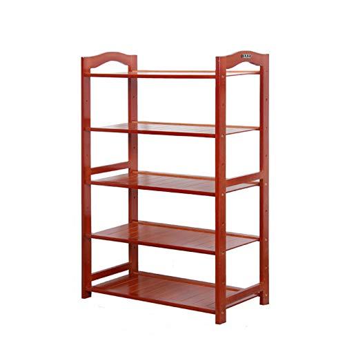 Zhenwo Schuhregal Aus Holz, Einfacher Storage Rack, Haushalt Multi-Layer-Shoebox, Multifunktions Montag Regal,C