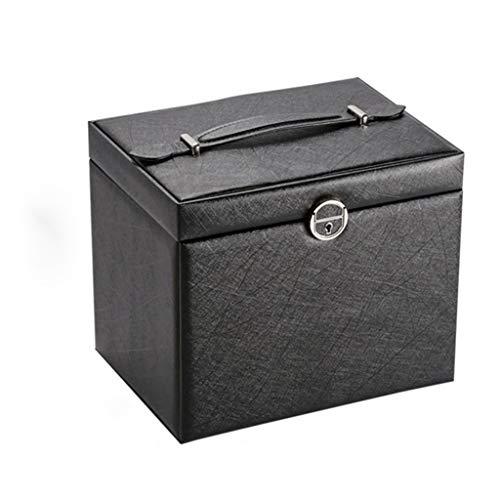 Yousiju Caja De Joyería De Gran Capacidad Caja De Almacenamiento De Cuero De Cinco Capas Joyas De Joyería De Joyería Multicapa