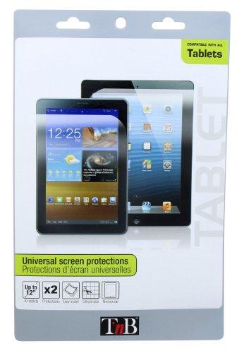 T nB PRECTAB1 - Confezione da 2 Protezioni universali per Schermo per Tablet da 7-12