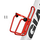 Zixin Portabotella Bicicletas Botella de aleación de Aluminio de Bicicletas de montaña Can Jaula de Soporte de Ciclo Taza de la Bebida de Agua en Rack Accesorios (Color : Red )