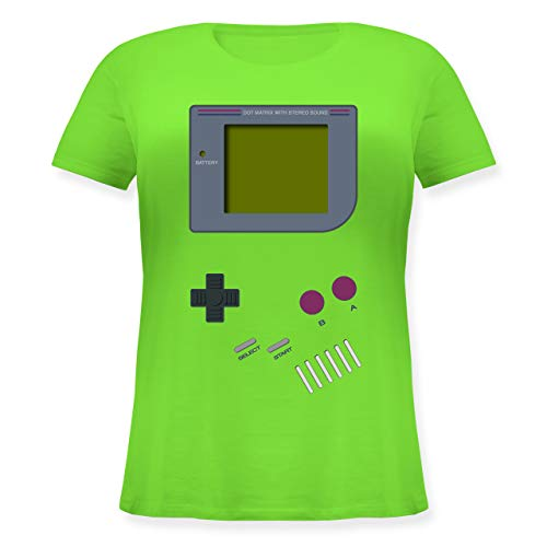 Nerds & Geeks - Gameboy - L - Hellgrün - Gamer Tshirt Damen - JHK601 - Lockeres Damen-Shirt in großen Größen mit Rundhalsausschnitt