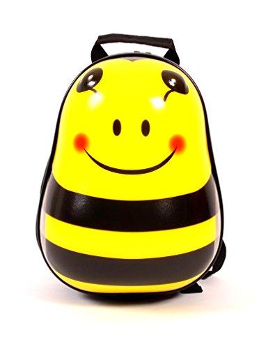 Bouncie Kinder-Rucksack Biene, geeignet für die Kinderkrippe, 30 cm groß, gelb