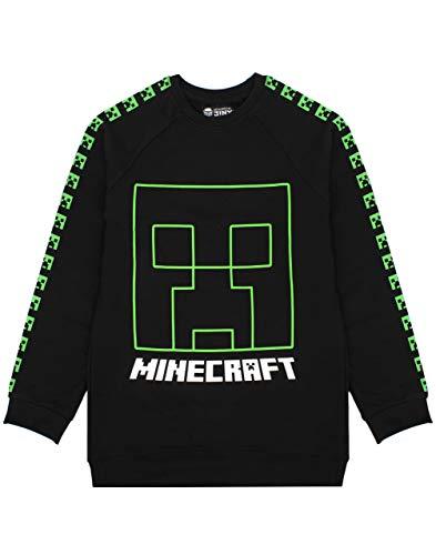 Minecraft Creeper Face Boy's Black Sweatshirt