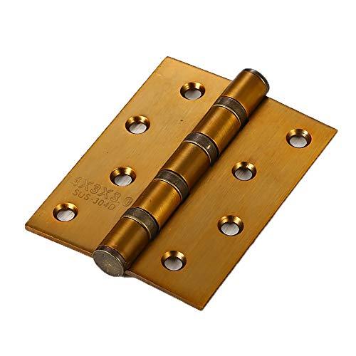 KCCCC Bisagra de la Puerta Heavy Duty Inicio Accesorios de Muebles Bisagra de Puerta 4 Piezas de 4x3 Pulgadas (con 32 Tornillos Piezas Multi-Color Opcional) para Puertas Internas