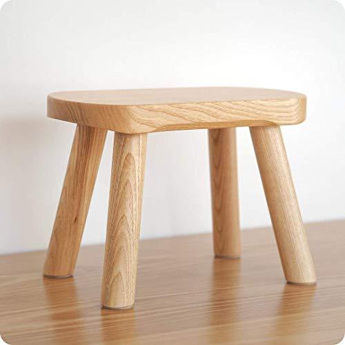 Mazar maciza para niños taburete para el hogar de madera taburete bajo taburete cuadrado de madera para niños zapatos de madera maciza pura banco sala de estar terraza balcón estudio (color: B)