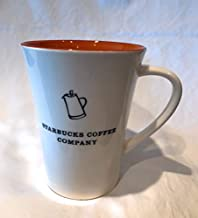Starbucks 2006 Coffee Company Orange and White Ceramic Mug