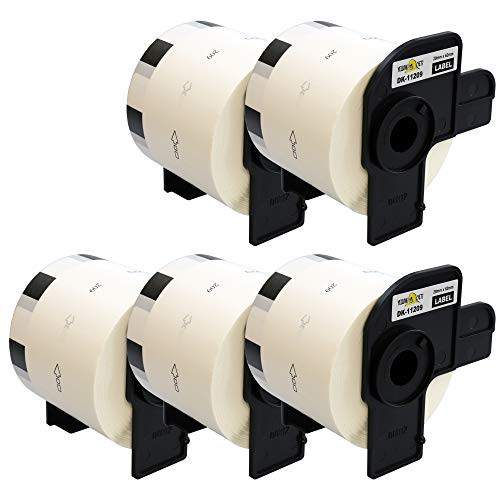 Yellow Yeti 5 Rollos DK-11209 29 x 62mm Etiquetas de dirección compatibles para Brother P-Touch QL-500 QL-570 QL-700 QL-710W QL-720NW QL-800 QL-810W QL-820NWB QL-1100 QL-1110NWB | 800 Etiquetas/Rollo
