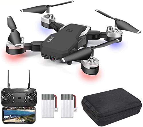 OBEST Drones con Cámara 1080P HD, WiFi FPV en Tiempo Real, Vuelo de Trayectoria, Modo sin Cabeza, Foto Gestual, Regreso con un Solo Botón, 3D Flip, 2 Baterías, Volando 24 Min, Negro