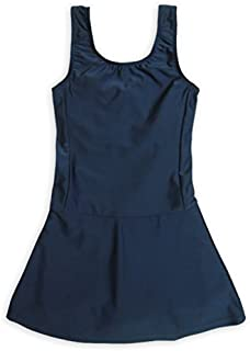 ASHBERRY (アッシュベリー) キッズスクール水着 女の子用スカート&スパッツ型 [UPF50+紫外線対策加工]865644