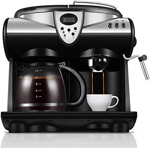 Espresso machine Portable espressomachine consumer en commercial Automatische Steam Milk Koffiezetapparaat karaf Brewer (Kleur: Zilver, Maat: Een maat)