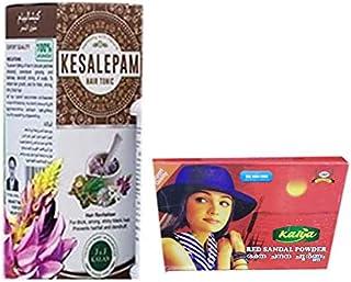 Herbal Hair Tonic 200ml x 5 bottles, With Free Sandal Powder - Rakthachandanam Skin Care Powder 500 Gm