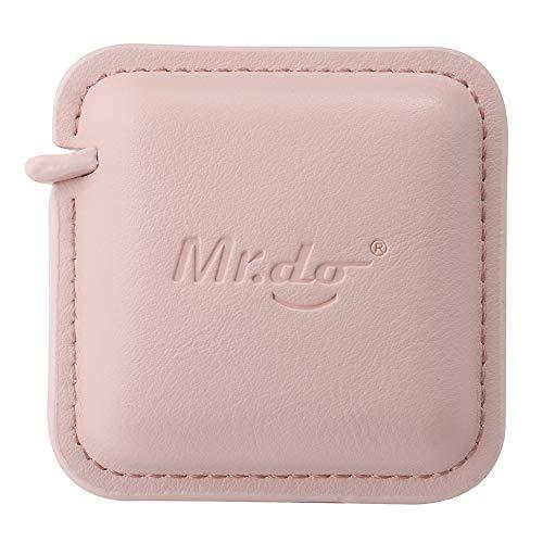 Mr.do® Mètre Ruban de Couture 200cm / 79 Pouces Automatique Rétractable pour Corps Couture Tissu Tailleur Cuir PU Rose