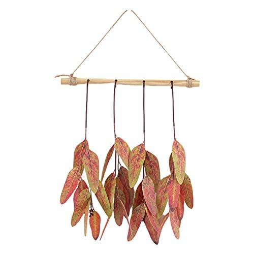 PINBinyee Plantas artificiales para interiores en macetas, hojas artificiales realistas para colgar, diseño de plástico, bonito para combinar con hojas de eucalipto para el hogar, 30 cm, 4