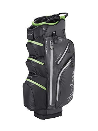 "MACGREGOR Unisex-Adult MACBAG131 MACTEC Water Resistant 10\"" Inch Golf Club Cart Bag, Charcoal/Black, One Size"