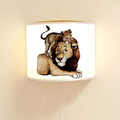 ilka parey wandtattoo-welt Ls114 Applique Murale pour Enfant avec Joli Lion et Lampe de Jeune Animal