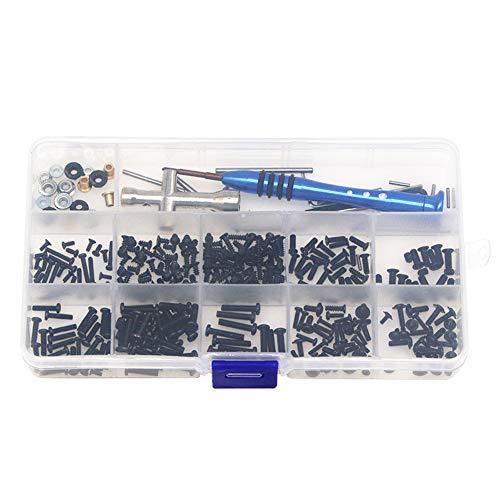RC Car Tools Kit All in One Set DIY Accessories Repair Supplies with Box Repair Tool Set Screws Box Hardware Fasteners for Wltoys1/14 144001 RC Car