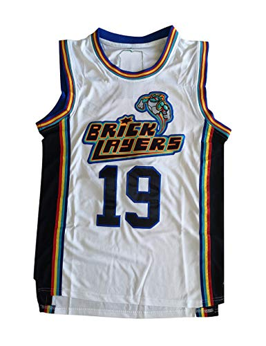 Aaliyah Jersey #19 Brick Layers MTV Rock N Jock Basketball Jersey More Size (XXXL) White