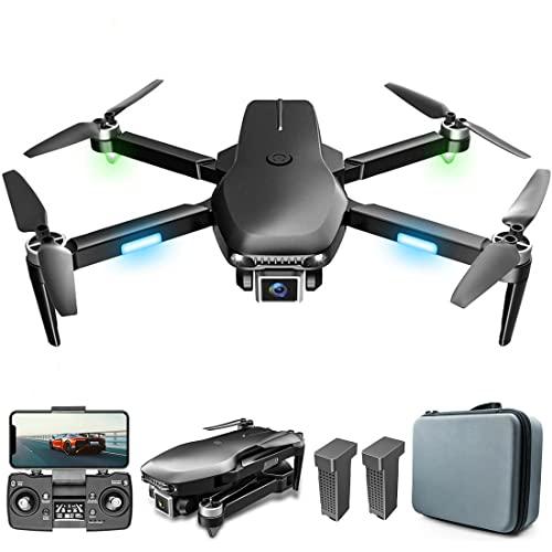 XIAOKEKE Drone GPS con Fotocamera 6K per Adulti, Quadricottero con 5G WiFi FPV Video in Diretta, Ritorno A Casa GPS, Motore Brushless, Seguimi, Batteria con Autonomia di Volo di 60 Minuti * 2