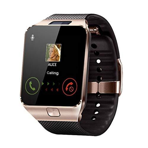 CGGA Smartwatch mit Touchscreen, Bluetooth, für Herren, Blutdruck, SmartBrace (Farbe: Gold)