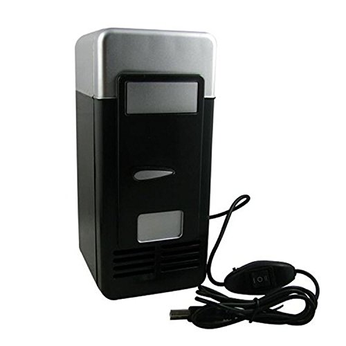 Mini USB Coke Kühlschrank Kühlschrank Gefriertruhe für Coca Cola Getränke schwarz + silber