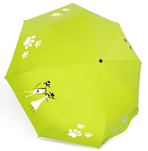 WYZQ Paraguas Paraguas de Viaje Paraguas Plegable Cambio de Color del Agua Paraguas automático Paraguas a Prueba de Viento Paraguas de Ducha de Agua para Mujer, Equipaje
