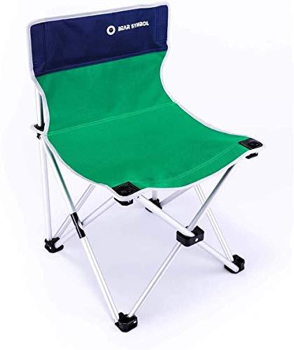 Sillas de Camping Plegable Ligero Perfil Inferior Compacto, Silla Plegable Durable de la Silla de Playa portátil for Caravana jardín de Viajes de Pesca de Playa al Aire Libre (Color : Green)