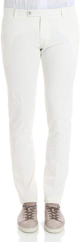 BERWICH Men's SLIMTS0001XPANNA White Cotton Pants