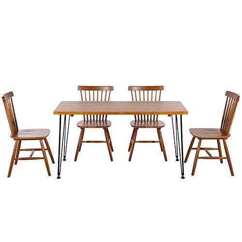 Aigrun Dos Paquetes Silla de Windsor de Madera Maciza de Estilo nórdico, Restaurante de Hotel, Silla de Comedor, Tienda de té, Silla de cafetería, Mesa de negociación de Oficina, marrón Oscuro