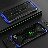 GGQQ YDYX AYDD para Xiaomi Black Shark 2 Pro Three Stage Splicing PC Funda con rieles deslizantes (Color : Black+Blue)
