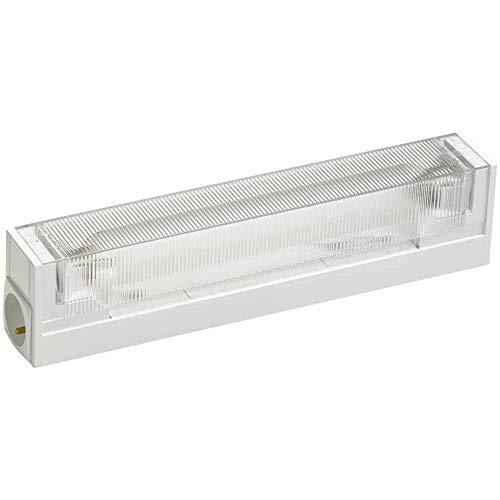 Müller-Licht LED Unterbauleuchte Spiegelleuchte Mirror Light Prisma Weiß 37cm 6W S19 500lm warmweiß 3000K Schalter & Französische Steckdose
