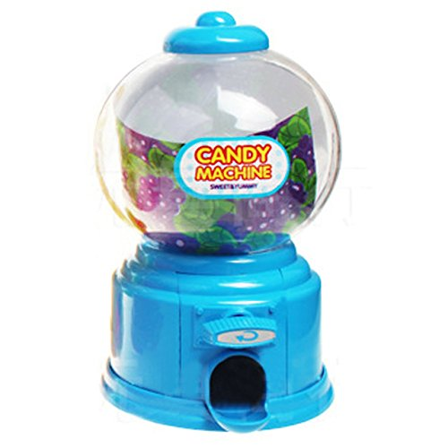 Kangkang@ Jelly Beans Sugar Snack Dispenser Coin Bank Storage Box Simulation Vending Machine Christmas Holiday Birthday Gift Toy blue
