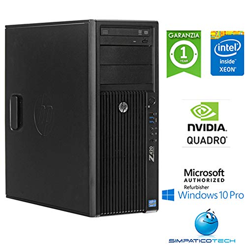 Workstation HP Z420 Xeon Octa Core E5-2650 64Gb 512Gb SSD Grafica Dedicata Nvidia Quadro 4000 2Gb Windows 10 Pro con Licenza Nuova Simpaticotech MAR Microsoft Authorized Refurbisher (Ricondizionato)