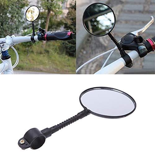 DFGH Espejos de Bicicletas Espejos de Bicicleta Flexibles Ajustables con Barra Flexible Mirror de Bicicleta Reflector de Espejo Trasero para Bicicletas de montaña y Manillar de mazo de Movilidad