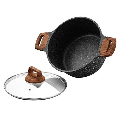 ESLITE LIFE Nonstick Soup Pot with Lid Stock Pot Induction Compatible 5Quart
