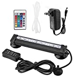 LED Aquarium Light, Submersible Fish Tank Bubble Light with Remote Control Underwater Colorful