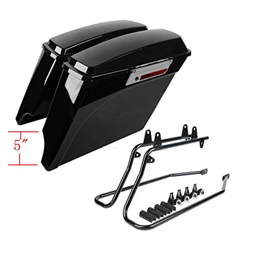 Buy Bargain SLMOTO 5 Stretched Saddlebags Conversion Bracket For Harley Softail Heritage 86-13