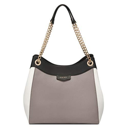 NINE WEST Women's CARA Shoulder Bag, Tropic Orange, Larg