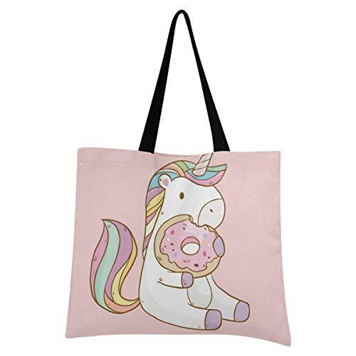 XIXIXIKO - Bolsa ligera de lona para la playa, diseño de unicornio, animales, arcoíris, para mujeres, niñas, compras, gimnasio, playa, viajes diarios