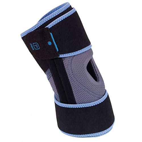 Prim Knee Brace Support, Wraparound Open Patella Knee Support for Arthritis, Knee Support with Side Stabilizers and Patella Pads, Best Comfort Fit Breathable Medical Grade Knee Wrap (1 Size)