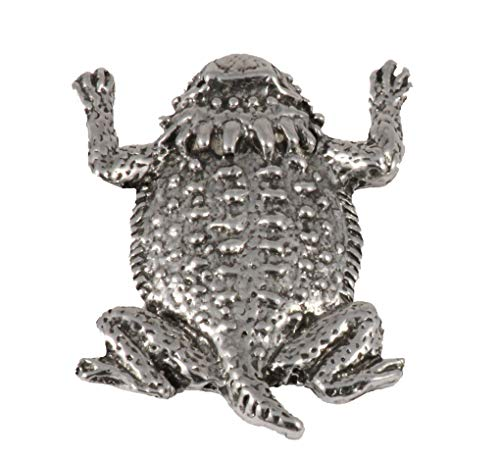 Antique Pewter Horny Toad (Short-Horned Lizard) Pin A061