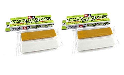 Outletdelocio. Tamiya 87051. Pack 2 unidades Masilla Epoxy Putty de dos componentes (50 gramos en total). Secado rapido