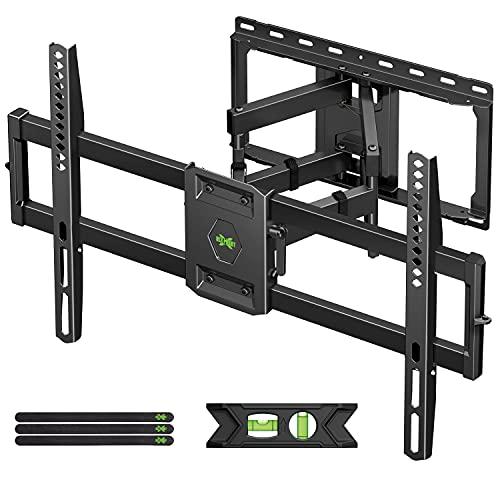 USX-MOUNT TV Wandhalterung Schwenkbar Neigbar für 47-84 Zoll LED/LCD/Plasma Fernseher mit max.VESA 600x400mm, TV Halterung Aufhaengung mit Ausziehbar Ultrastarker Doppelarm bis zu 60kg