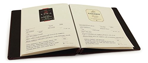 Cellar Notes Leather Wine Label and Tasting Journal with 20 Label Lift Removers (Burgundy) - holds your tasting notes, ratings and labels - bundle includes Label Lift label removers and helpful tips