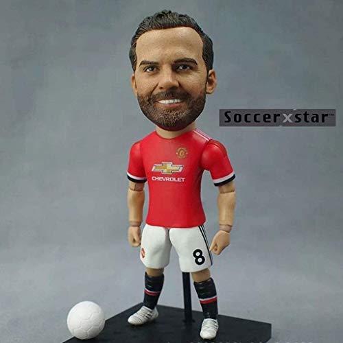 Soccer Star 1/6 Juan Mata - Figura de acción coleccionista de Manchester United/coleccionables para fanáticos del fútbol/decoración del salpicadero para coche 13CM