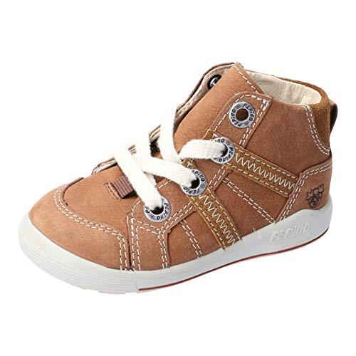 RICOSTA Kinder Lauflern Schuhe Danny von Pepino, Weite: Weit (WMS), Spielen verspielt detailreich Freizeit leger schnürschuh,Curry,26 EU / 8 Child UK